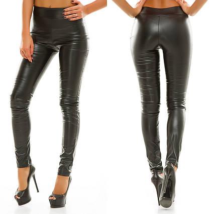 """Стильные женские кожаные брюки-леггинсы 069 """"Кожа Классика"""" в расцветках"""