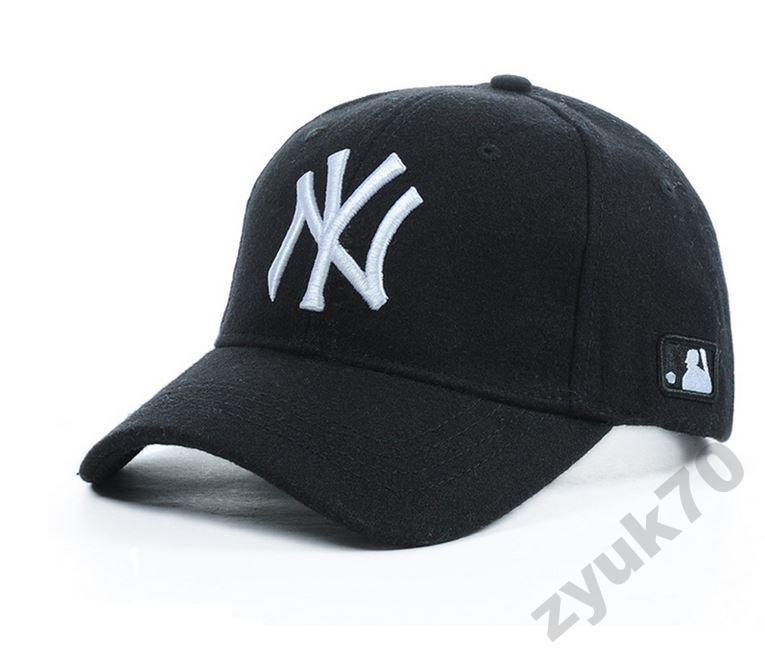 Теплые зимние бейсболки кепки New York MLB шерсть - Zyuk ... 78bc1582c0f94
