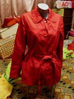 Плащ женский красный 16 50 L легкий ветровка качество
