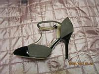 Туфли босоножки ЖЕНСКИЕ серые черные удобные 38 размер