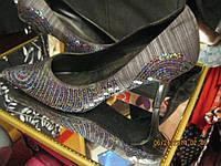 Туфли женские удобные 40р нарядные темно-серые