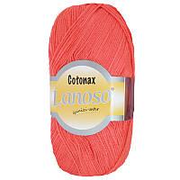 Пряжа для ручного и машинного вязания Lanoso Cotonax, цвет коралловый