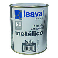 Противокоррозионная эмаль с эффектом ковки, цвет графитовый - Форха Изалнокс 0,75л=7м2