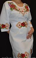 Стильное вышитое платье Маки орнамент