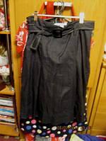Юбка черная отличная стильная zara зара, фото 1
