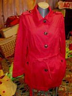 Плащ ветровка красный как НОВЫЙ 16 50 L DEBENHAMS , фото 1