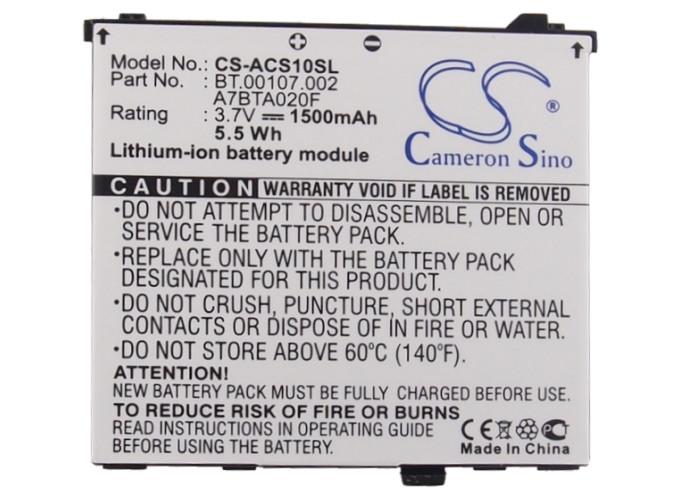 Аккумулятор для Acer Liquid S100 1500 mAh