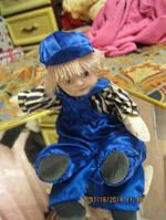 Кукла фарфоровая голова игрушка клоун мягкая старая куплена в  ГЕРМАНИЯ мальчик