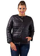 Женская короткая куртка (синтепон150)  р. 48,50,52-черная