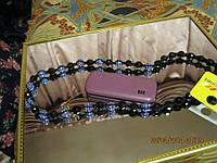 Бусы ожерелье новые синие ШАМБАЛА шикарные длинные