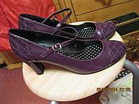Туфли женские 39р фиолетовые как новые