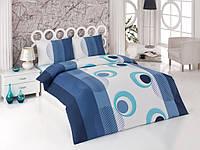 Набор постельного белья Kristal (Турция) Nazar голубой, 200х220