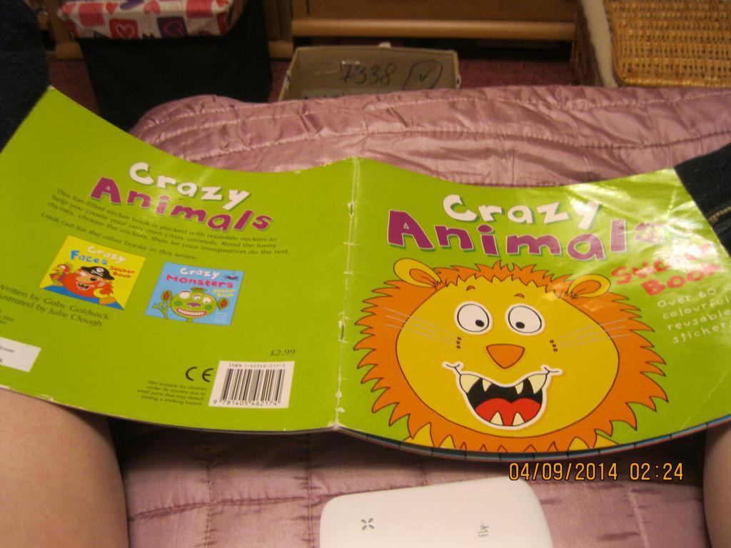 Книга Детская яркая  на английском языке номер лев