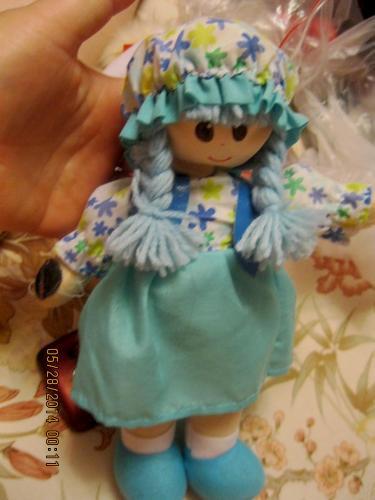 Игрушка кукла девочка фирменная в голубом платье пупс высота=26см