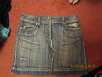 Юбка недлинная 14 48 М джинсовая ОТЛИЧНАЯ NEXT , фото 1