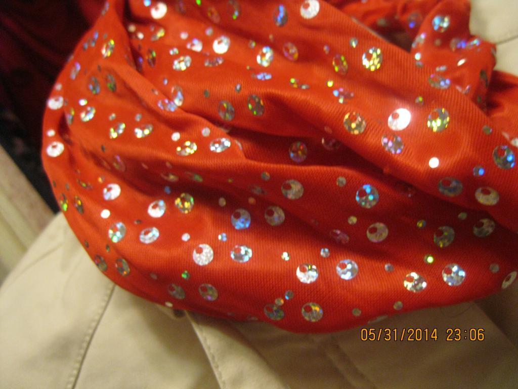 Повязка обруч заколка новая красная широкая