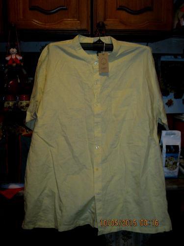 Рубашка шведка летняя мужская ЛЕН-ХЛОПОК 3XL 58-60 фирма cotton - SOLARIS2013 в Днепре