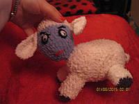 Овечка овца handmade новая ручная работа игрушка МЯГКАЯ СРЕДНЕГО РАЗМЕРА, фото 1