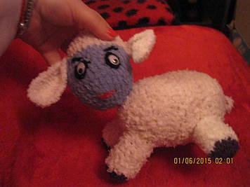Овечка овца handmade новая ручная работа игрушка МЯГКАЯ СРЕДНЕГО РАЗМЕРА