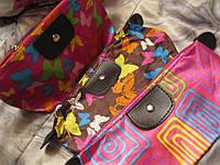 Кошелек косметичка сумочка с зеркалом ЦВЕТНАЯ