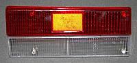 SIMPOL - Комплект стекол для СТОП-сигналов на ВАЗ-2107, Tuning,  Red & White (II), 2 шт