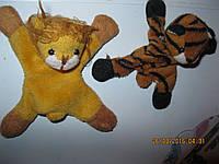 Магнит в лапках  набор=лев +тигр лот=2 шт игрушки мягкие