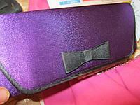Клатч новый сумка фиолетовый черным остатки уточните.пож, фото 1