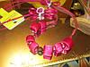 Бусы ожерелье ФУКСИЯ РОЗОВЫЕ шикарное атлас длинные, фото 4