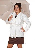 Женское пальто кашемировое  короткое  р.48,50,52 белый