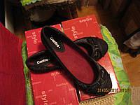 Балетки туфли 37р темные с бантиком фирменные женские новые