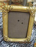Рамка фото рамка камни нарядная фоторамка металл