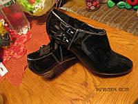 Сапоги ботильоны туфли женские лаковые черные 41р 27см Marks spencer сток б у