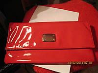Клатч сумка лаковая новая красный , фото 1