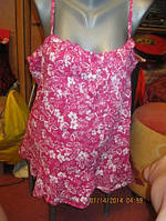 Блузка блуза майка топ 50 L 16 хлопок яркая чудесн