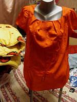 Красная блуза фирменная 14 48 М ИНТЕРЕСНАЯ ТУНИКА