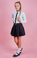Школьная белая блуза для девочки