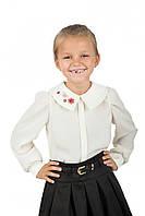 Школьная детская блуза атлас