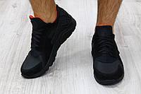 Кроссовки мужские кожаные черные в стиле Huarache р41
