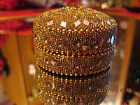 Сувенир старинная шкатулка круглая СИРИЯ очень красивая вещь