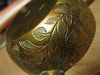 Тарелки подставки под аромопалочек утварь из Индии чеканка старые металл набор 3 шт