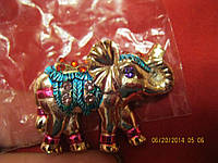 Магнит слон камни красивый сувенир слоник яркий фигурка
