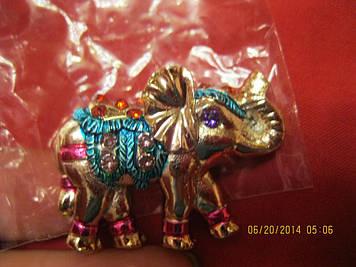 Магніт слон камені гарний сувенір слоник яскравий фігурка