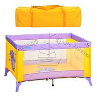Манеж-кровать Bambi (Metr+) М 1546 фиолетово-желтый