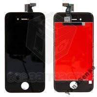 Дисплейный модуль для iPhone 4S, черный, high-copy
