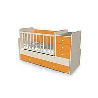Кровать трансформер 4 в 1 для малышей  Шоколадка от 0 до 15 лет