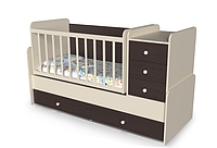 Люлька+кровать+пеленатор+стол  Шоколадка от 0 до 15 лет