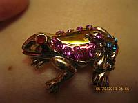 Магнит жаба камни лягушка сувенир стразы