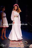 Платье с вышивкой, шифон