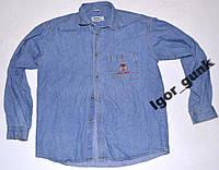 Рубашка джинсовая JUNIOR, 164, отл. сост.