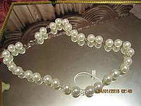 Бусы искусственный жемчуг ожерелье нарядное стиль, фото 1